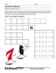 fractions ordering unlike denominators puzzle