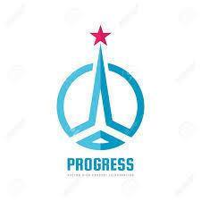 Start Logo Design Progress Abstract Vector Logo Design Elements With Star Sign