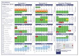 Semester Academic Calendar 2018 Templates At