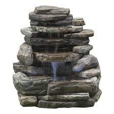 rock wall fountain