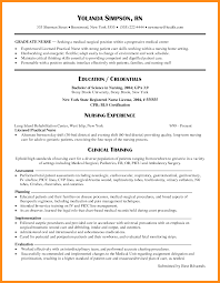 New Graduate Nurse Resume Sample Nursing Resume Samples New Grad Examples 24 Graduate Template 10