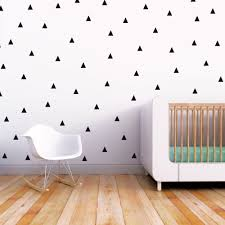 triangle wall decal nursery