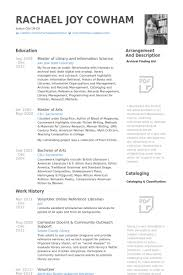 Librarian Resume Samples Visualcv Resume Samples Database