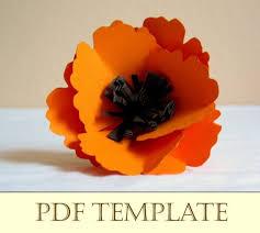 Make A Paper Poppy Flower Poppy Paper Flower Printable Pdf Instructions By