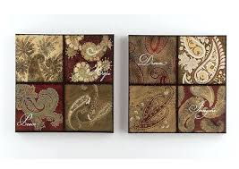 red and brown wall art furniture red gold brown green wl art set set of 2 on red and brown metal wall art with red and brown wall art furniture red gold brown green wl art set set