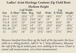 Ariat Volant Boot Size Chart Ariat Boot Sizes Coltford Boots