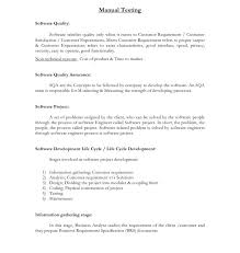 Manual Testing Resume New Sample Software Tester Resume Resume