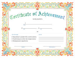 Printable Achievement Certificates Printable Certificate Of Achievement Print Sign And Give