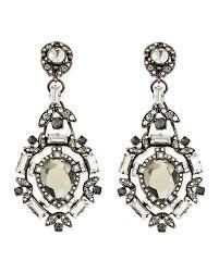 clear crystal clip on chandelier earrings