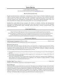 Sample Resume For Maintenance Engineer Sample Maintenance Resume