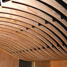 curved wood ceiling. Unique Curved Wooden Suspended Ceiling  Strip Acoustic Curved  LAUDER LINEA SWELL With Curved Wood Ceiling A