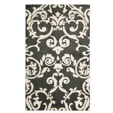 laura ashley halstead plush knit gray 2 ft x 4 ft area rug