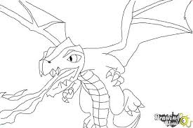 Lava Dragon Coloring Pages