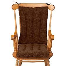 wooden rocking chair with cushion.  Rocking WalterDrake Sherpa Rocking Chair Cushion Set By OakRidge ComfortsTM For Wooden With F