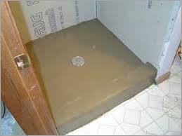 concrete shower floor no tile modern looks installing mortar regarding decorations 6