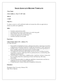 Cv For Sales Associate Example Resume And Cv Templates