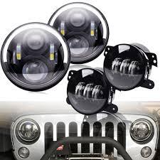 Dot Approved Led Lights Us 62 78 27 Off Marlaa Dot Approved 7inch Led Headlights With High Low Beam 4 Inch Led Fog Lights For Jeep Wrangler 97 2017 Jk Lj Tj Hummer In Car