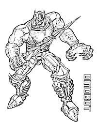 Dinobot Transformers Coloring Page Transformer Coloring Pages
