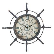 Wall Decor, Captains Wheel Decor Nautical Ship Clock Rustic Decor: Awesome