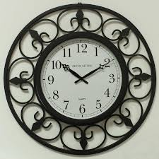 home and furniture fabulous wrought iron wall clock in time at rs 3700 piece lohe