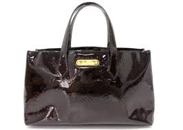 louis vuitton monogram vernis wilsherepm hand bag tote bag black patent leather m93641 reebonz philippines