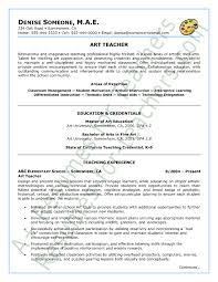 teachers resumes examples art teacher resume examples