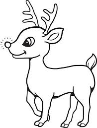 christmas baby reindeer coloring pages. Baby Reindeer Coloring Page On Christmas Pages