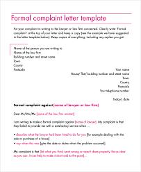 Complaint Letters Samples Impressive Formal Complaint Letter Format Sample