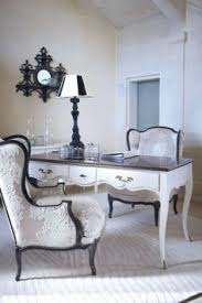 home office with french provincial furniture
