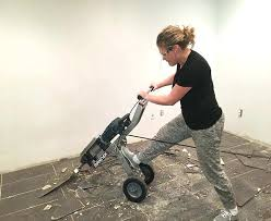 removing tile from concrete floor tile demo how to remove tile from concrete demolition floor demo