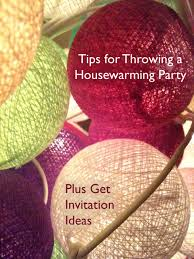 Tips for Throwing a Housewarming Party + Invitation Ideas