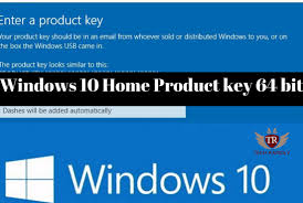 Windows 10 Home Product Key 64 Bit Full Version Free Download