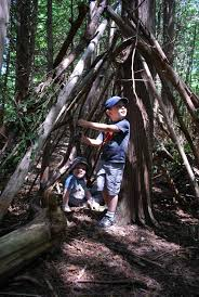 how to build an awesome kids stick forest house my favourite part of this activity was that it allowed the boys to get outside be active and get up and