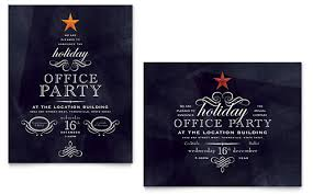 Free Holiday Party Templates Office Holiday Party Poster Template Design