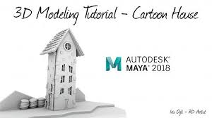 <b>3D</b> Modeling Tutorial - <b>Cartoon</b> House in autodesk maya <b>2018</b> ...