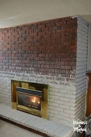 brick fireplace makeover is the best fireplace wall makeover is the best painted brick fireplace wall