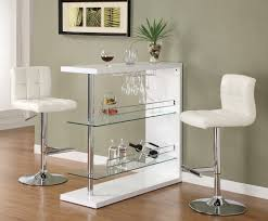 white bar table set