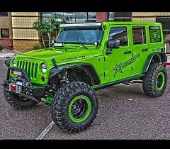 4 door lime green jeep jk