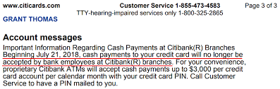 Cash Payments Will No Longer Be Accepted For Credit Cards At