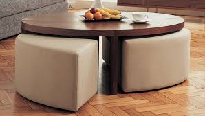 nice round coffee table with ottomans underneath with coffee table cool coffee table with ottomans design