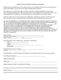 medical consent release form bagnas parental consent form for medical treatment permission letter for medical treatment