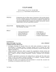 Sample Of Banking Resume Resume 6