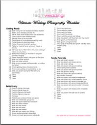 Wedding Photography Checklist Template Ultimate Wedding Photography Checklist Free Print Out