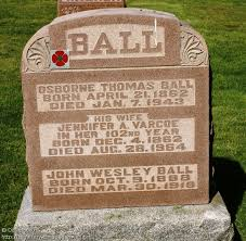 ON: Ayr Cemetery (John Wesley BALL), CanadaGenWeb's Cemetery Project