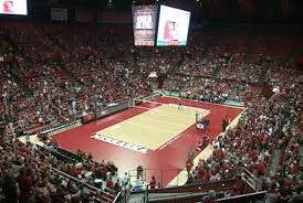 Bob Devaney Sports Center Seating Chart Volleyball Devaney Center Bigscreen Makes Debut At Nu Volleyball Scrimmage