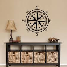 compass rose nautical mural vinyl wall art decal sticker decor lettering 15 1 of 1free