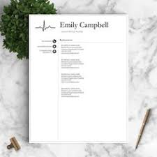 Nurse Resume Template For Word Pages 1 2 By Landeddesignstudio