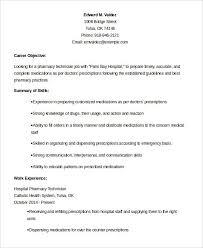 Tech Resume Examples New Pharmacy Technician Resume Example Good Profile Examples For