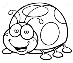full ladybug pictures to color vector ilration of cartoon lady bug coloring book royalty free