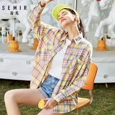 <b>SEMIR Plaid</b> shirt women 2020 spring new chic western style design ...
